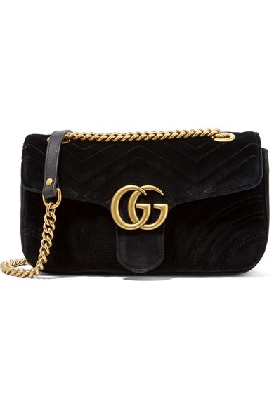 a32c7e3c67f Gucci. GG Marmont small velvet shoulder bag