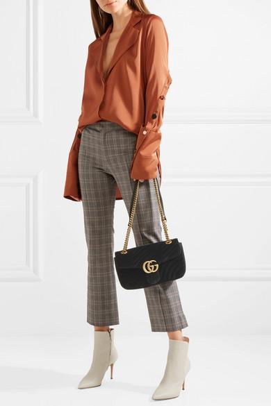 00c20a5073a GG Marmont small velvet shoulder bag