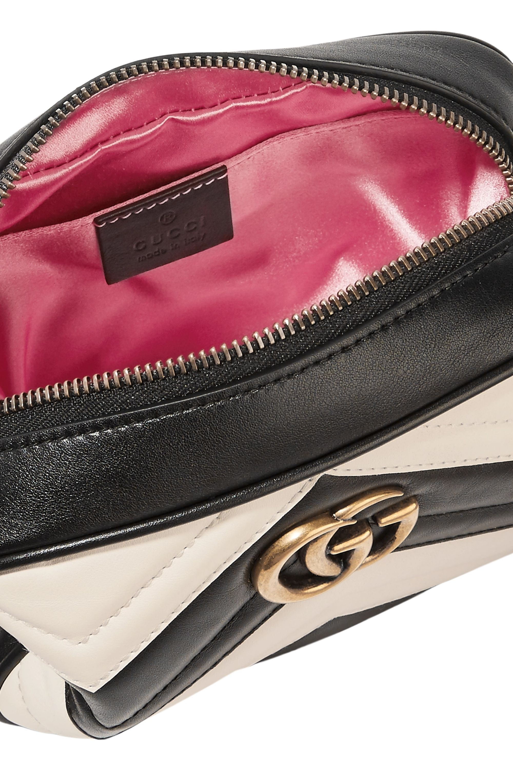 Gucci GG Marmont Camera mini two-tone quilted leather shoulder bag