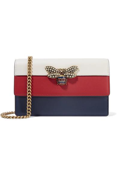 3d7afbef9af Gucci   Queen Margaret embellished leather shoulder bag   NET-A ...