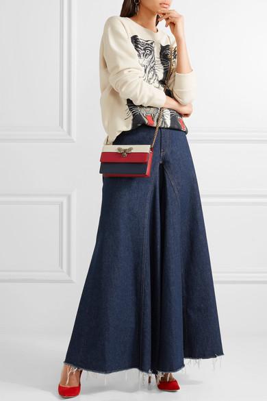 0444a0102f8dc1 Gucci | Queen Margaret embellished leather shoulder bag | NET-A ...