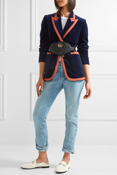 Gucci Gg Marmont Quilted Leather Belt Bag Net A Porter Com