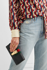 Gucci Sylvie canvas-trimmed leather continental wallet