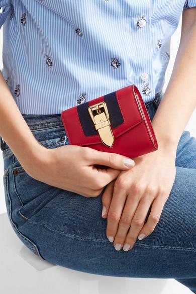99477f719949 Gucci | Sylvie canvas-trimmed leather wallet | NET-A-PORTER.COM