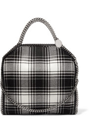 Stella McCartney Falabella medium checked wool shoulder bag