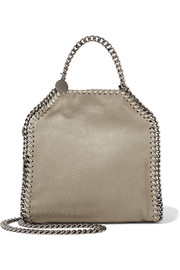 Stella McCartney The Falabella tiny faux brushed-leather shoulder bag