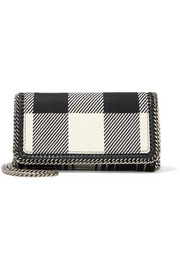 Stella McCartney Falabella checked wool shoulder bag