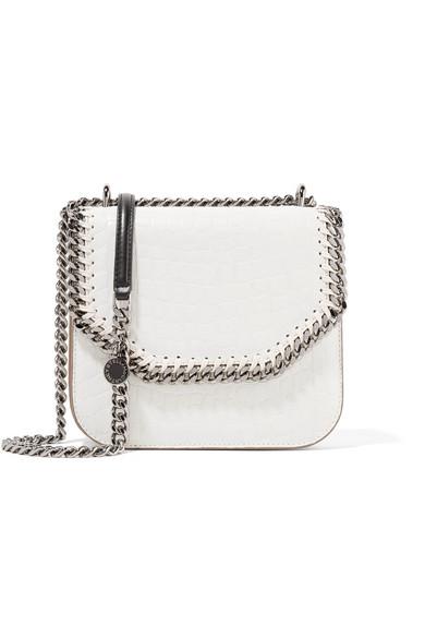 977a023e67 Stella McCartney. The Falabella Box small croc-effect faux leather shoulder  bag