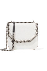 Stella McCartney The Falabella Box small croc-effect faux leather shoulder bag