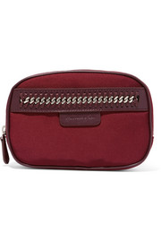 Stella McCartney The Falabella chain and faux leather-trimmed cosmetics case