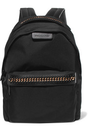 Stella McCartney Falabella faux leather-trimmed shell backpack