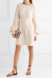Chloé Button-detailed crepe mini dress