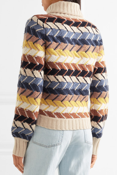 264809eefe Chloé | Merino wool and cashmere-blend turtleneck sweater | NET-A ...