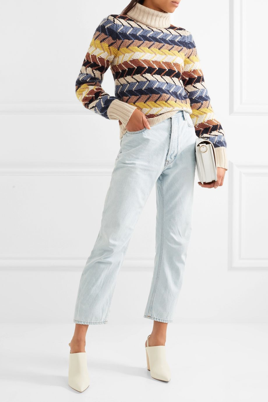Chloé Merino wool and cashmere-blend turtleneck sweater