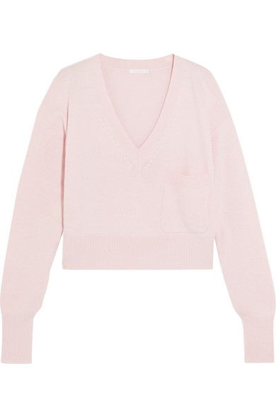 Chloé | Cashmere and cotton-blend sweater | NET-A-PORTER.COM
