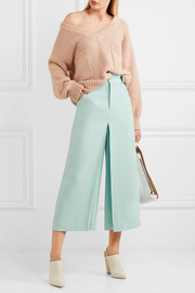 Chloé Pleated crepe culottes