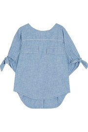 Chloé Cotton-chambray top