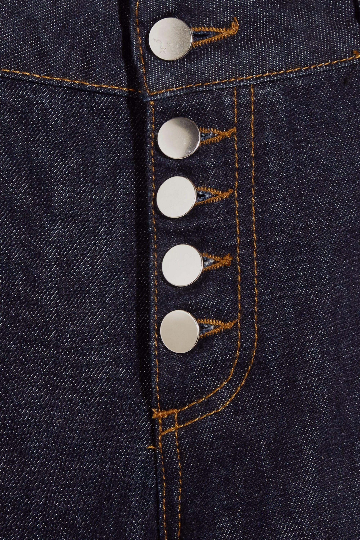 ALEXACHUNG Mid-rise straight-leg jeans