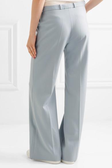 Twill Wide-leg Pants - Sky blue AlexaChung BrZl5soPL