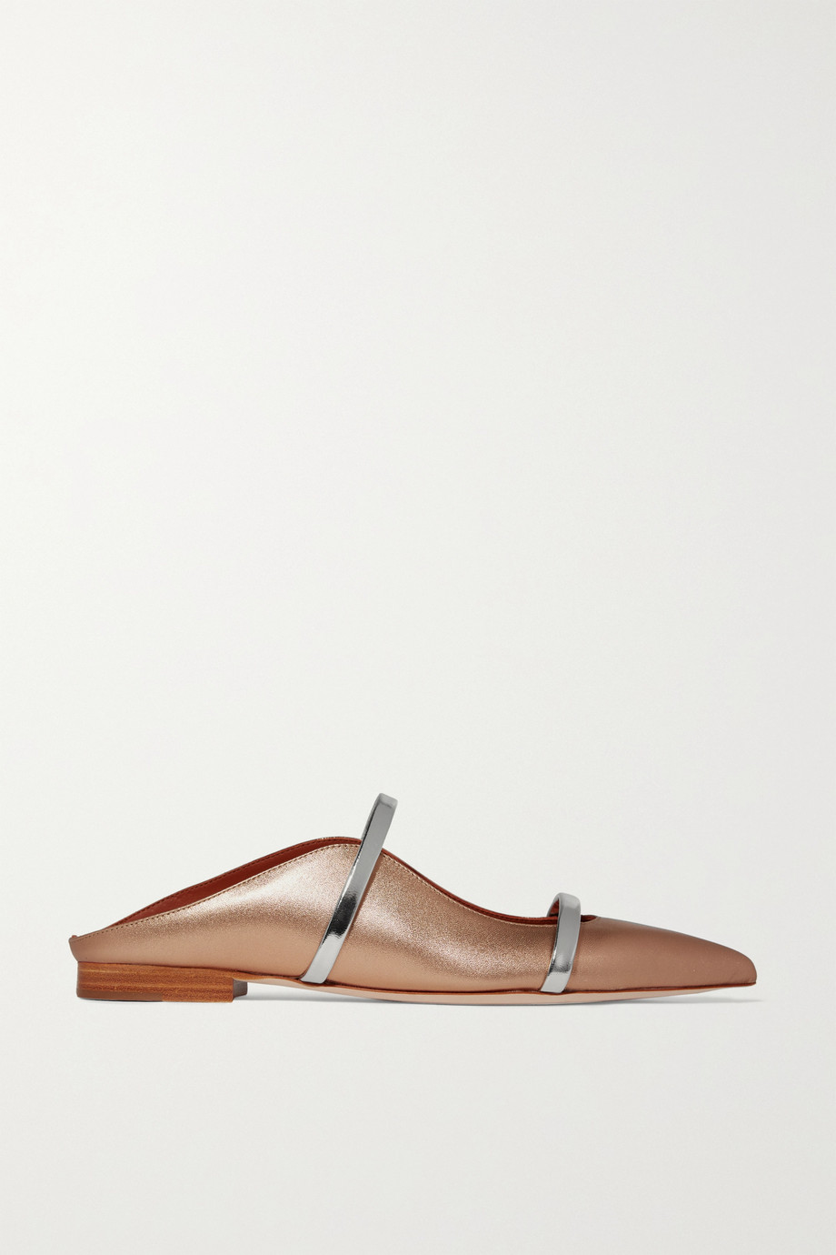 Malone Souliers Maureen metallic leather point-toe flats