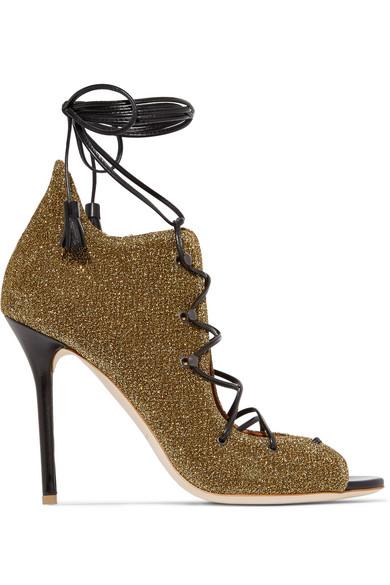 Malone Souliers - Savannah Lurex Sandals - Gold