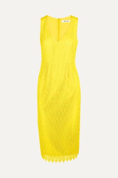 Diane von Furstenberg - Crocheted Lace Dress - Yellow