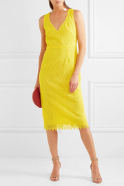 Diane von Furstenberg Crocheted lace midi dress