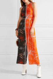 Diane von Furstenberg Open-back printed silk crepe de chine midi dress