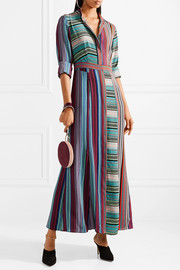 Diane von Furstenberg Striped silk maxi dress