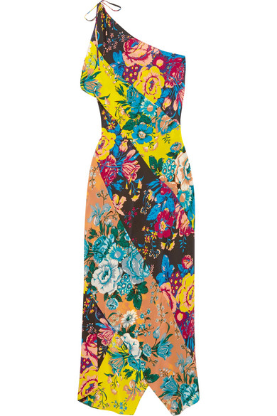 4eade2736f Diane von Furstenberg. One-shoulder printed silk crepe de chine maxi dress