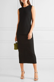 Diane von Furstenberg Layered ribbed-knit midi dress