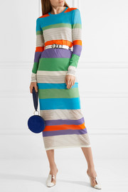 Diane von Furstenberg Striped stretch cotton-blend midi dress