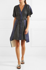 Diane von Furstenberg Striped silk mini dress