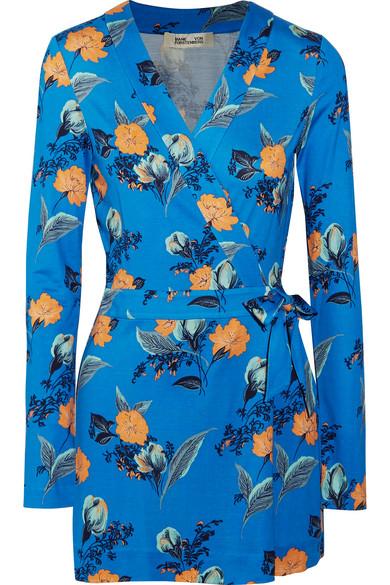 Celeste floral-print silk-jersey playsuit