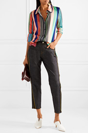 Diane von Furstenberg Striped silk-blend shirt