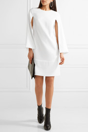 DKNY Cape-effect stretch-crepe dress