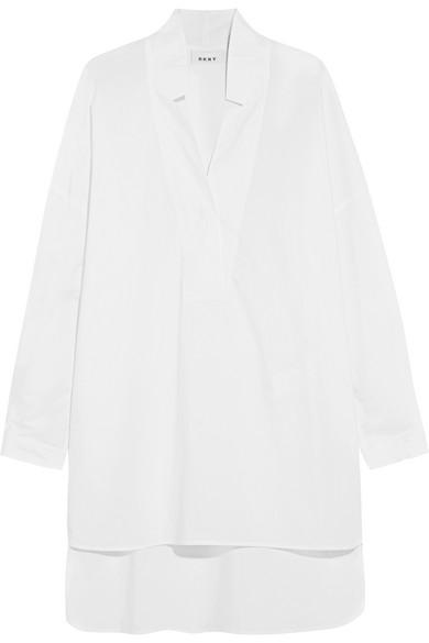 DKNY - Oversized Cotton-poplin Tunic - White at NET-A-PORTER