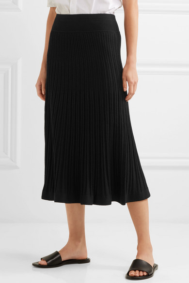 detailed look unparalleled select for authentic Ribbed stretch-knit midi skirt