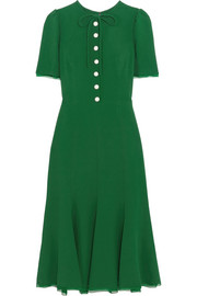 Dolce & Gabbana Middleton georgette-trimmed crepe midi dress