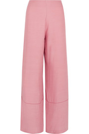 Staud Monte crepe wide-leg pants
