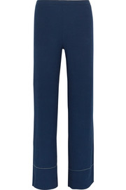 Leone ribbed stretch-knit wide-leg pants