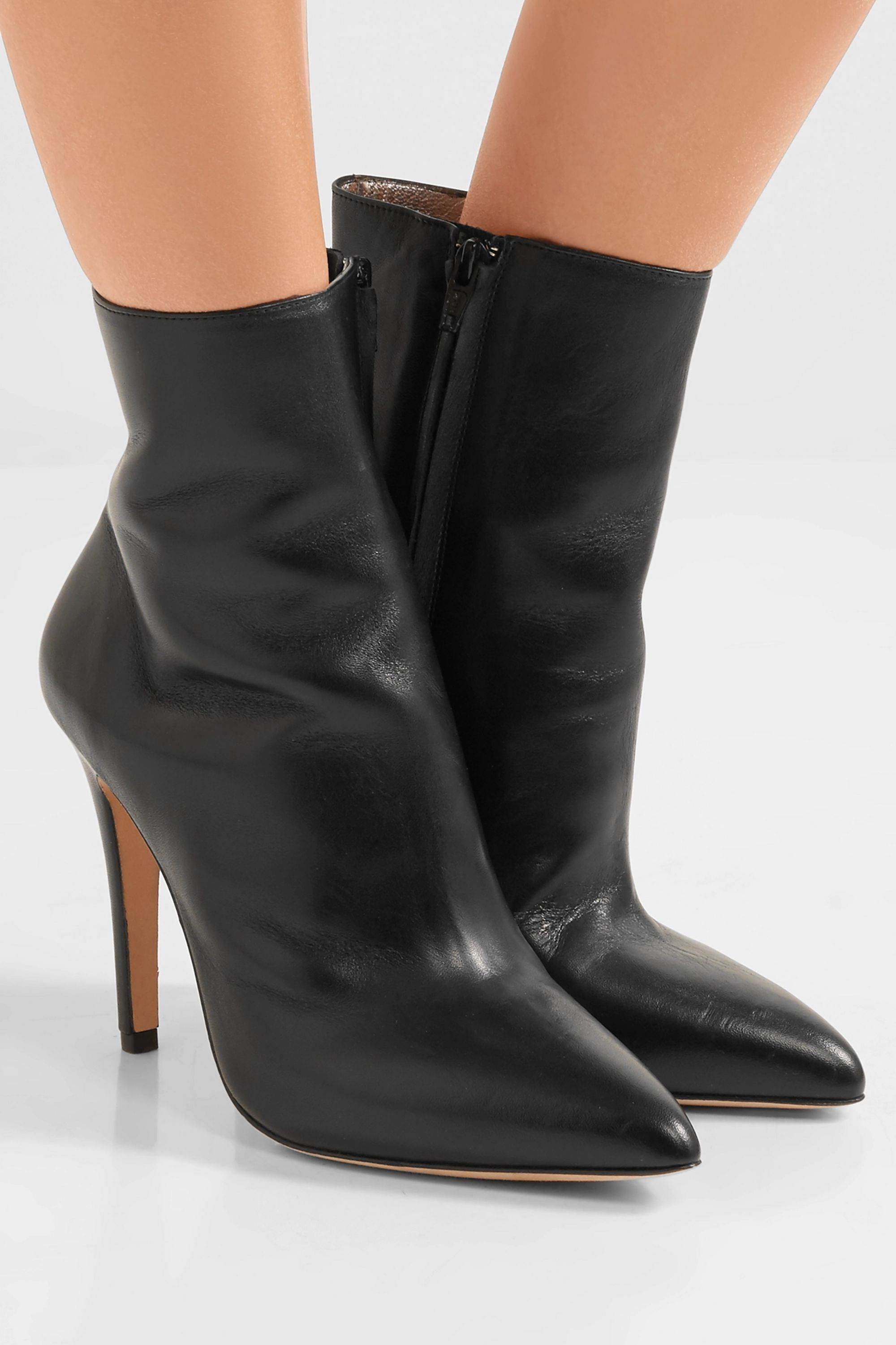 ALEXACHUNG Leather ankle boots