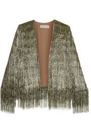 Isla metallic fringed jacket