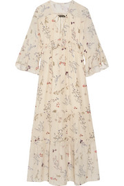 Belmont ruffled floral-print silk-chiffon maxi dress