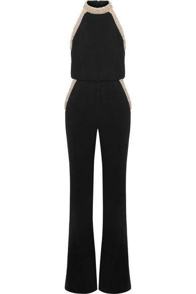 653ac6a96269 Rachel Zoe. Elinor embellished crepe halterneck jumpsuit