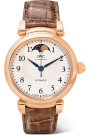 Da Vinci Automatic Moon Phase 36 alligator and 18-karat red gold watch
