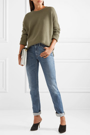 Lace-up cashmere sweater