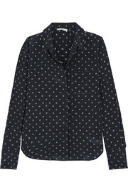 Vince Printed silk shirt