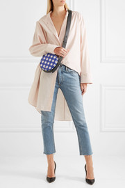 Diane von Furstenberg Circle gingham leather shoulder bag