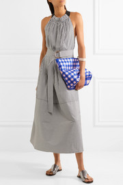 Diane von Furstenberg Origami gingham coated-canvas clutch